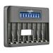 Jupio Octo caricabatteria LCD - USB 8-slots