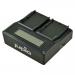Jupio Caricatore Doppio dedicato per batterie fotocamere JVC SSL-JVC50/SSL-JVC75