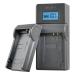 Jupio caricabatteria USB per Panasonic/Pentax batterie 7.2V-8.4V