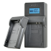 Jupio caricabatteria USB per JVC/Samsung/Sony batterier 7.2V-8.4V